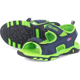 TROLLKIDS Orrestrand Sandals Kids navy/viper green